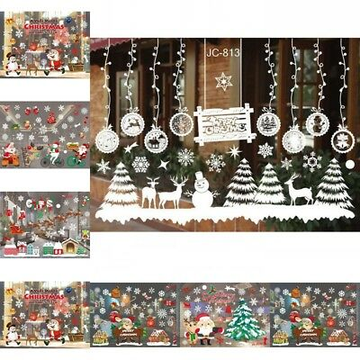 Christmas Snowflake Decals Window Glass Wall Stickers Vinyl Art Xmas Decor Gift