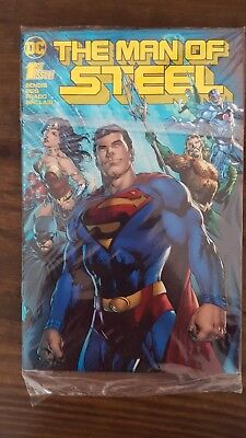 Man Of Steel #1 2018 Dc Comics Convention Gold Foil Cover.new Bagged And Boarded
