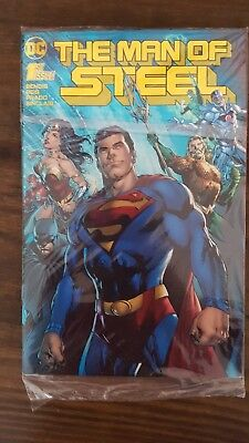 Mcm Man Of Steel 1 2018 Dc Comics Convention Gold Foil Cover Bagged And Boarded