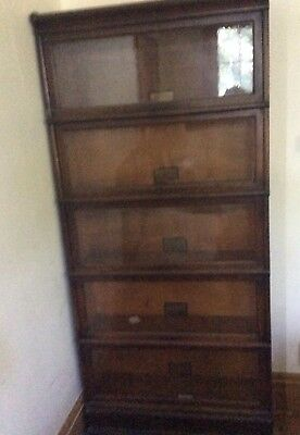 Antique Globe Wernicke FIVE Stack Barrister Bookcase In Great Condition