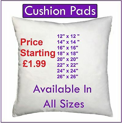 "Cushion Pads Crsuhed Foa Inserts Fillers Inners 12"" 14""16""18""20"" 22"" 24"" 26"" P&P"