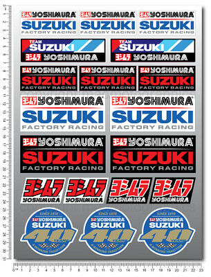 Suzuki Team Racing Yoshimura GSXR sticker set decals gsx-r 600 1000 Laminated