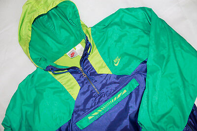 VINTAGE NIKE Windbreaker There Is No Finishline L grey tag vtg 90s 80s Jacke