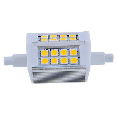 2X(R7S J118 5W 24 5050 SMD LED 78mm Flood Light Lamp Bulb 85-265V Warm B6J5)