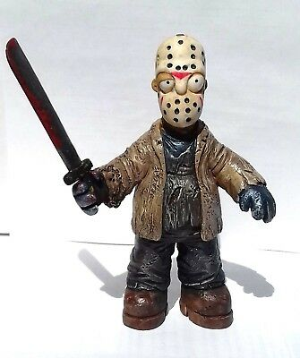 simpson parody Jason vorhees Friday 13 th figures mexican  resin