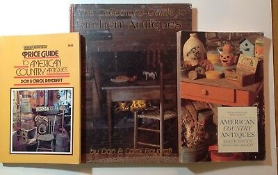 Lot 3 AMERICAN COUNTRY ANTIQUE Reference Guide Books Primitives Kitchen RAYCROFT