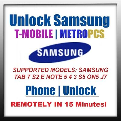 UNLOCK CODE MetroPCS T-MOBILE SAMSUNG GALAXY ON5 S5 G900T NOTE 5 4 N910T TAB A S
