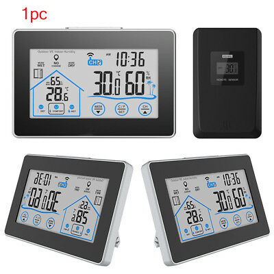Weather Station Hygrometer Thermometer Touch Screen Sensor Wireless Electronic