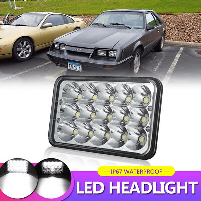 "45W 4x6"" Headlight LED CREE HID Replace H4651 H4656 H4666 High/Low Beam"