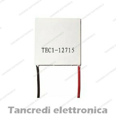 CELLA DI PELTIER TEC1-12715 12V 15A 231W Thermoelectric Cooler Cooling 40x40