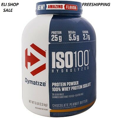 Dymatize ISO-100 Hydrolyzed 100% Whey Protein Isolate 5 Lb All Flavors Iso 100
