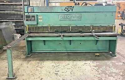 """Piranha 1/4"""" x 10ft Squaring Shear- CNC Back Gauge  Offers Welcome"""