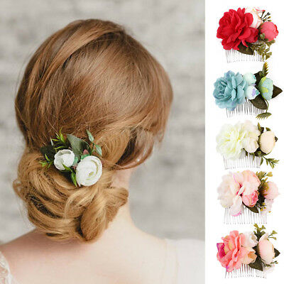 BL_ Women Bridal Flower Hair Comb Hair Pins Hair Clips Hair Accessories Wedding