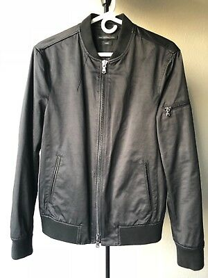 NWT Mens John Varvatos black luxe bomber jacket size small
