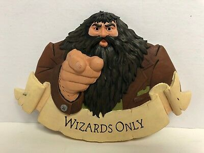HAGRID Harry Potter 3D Wall Plaque WIZARDS ONLY by Hallmark 2000
