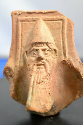 a Hellenistic fragment of a brazier (stove) with bearded face (Odyssues?)