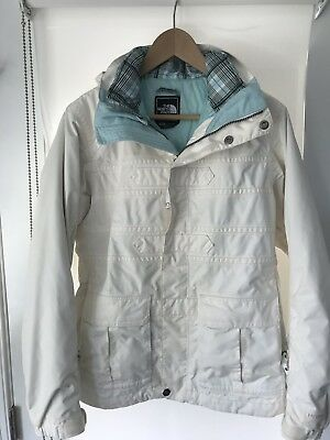 98a256a62657 The North Face HYVENT Women s Winter Ski Snow Jacket Size M White  Blue  Lined