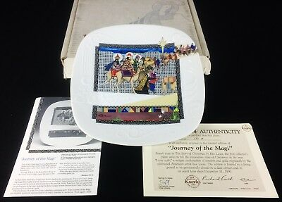 Eve Licea Story of Christmas 1990 JOURNEY OF THE  MAGI Plate Knowles NEW NIB