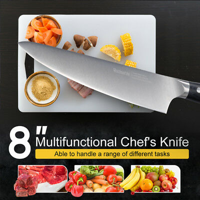 Chef'S Knife 8 Inch Pro German Stainless Steel Razor Sharp Cutter Multipurpose