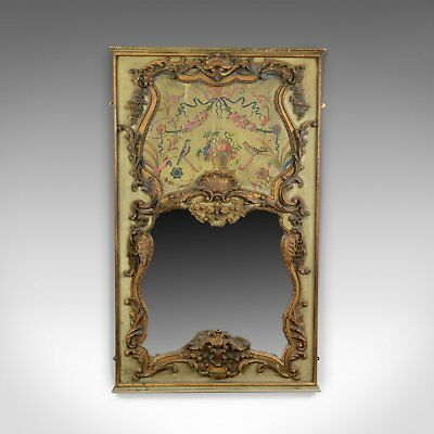 Large, French, Rococo Revival, Wall Mirror, Painted, Hall, Overmantel, C20th