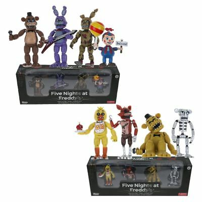 4Pcs Set of FNAF Five Nights at Freddy's 5CM Action Figures With Light Toys Gift