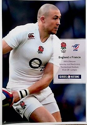 ENGLAND v FRANCE 2015 RBS SIX NATIONS RUGBY PROGRAMME , Mike Brown
