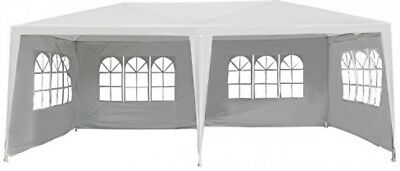 Outsunny 10x20ft Gazebo Canopy Party Tent Outdoor Event Shelter w/ 4 Removable