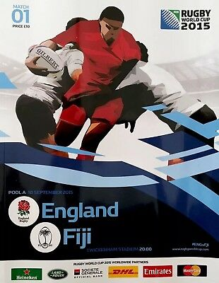 ENGLAND v FIJI RUGBY WORLD CUP 2015 OFFICIAL PROGRAMME , TWICKENHAM ,Sam Burgess