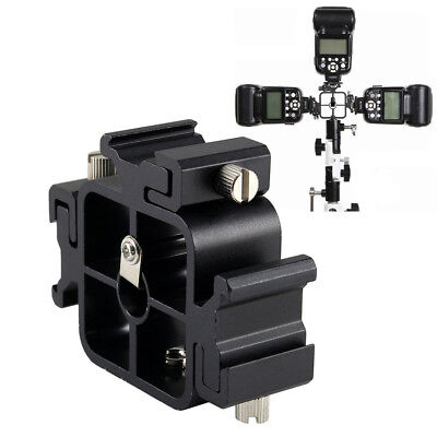 BL_ Aluminium Alloy 3 in 1 Tri-Hot Shoe Mount Adapter Flash Holder Stand Wide