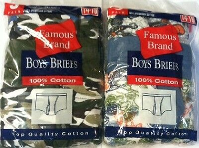 Fruit of the loom &/or Hanes Boy's Briefs in Famous Brand Packages (Value Packs)