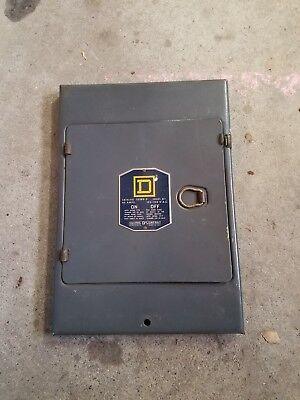Old Square D Panel Cover