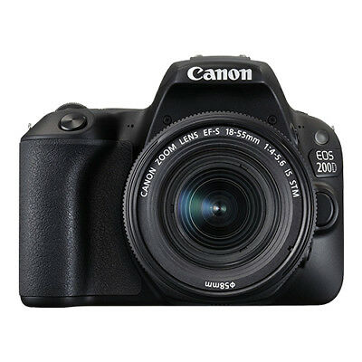Canon EOS 200D / Rebel SL2 24.2 MP Digital SLR Camera with 18-55mm Lens