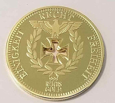 WWI WWII German Fallen soldiers commemorative military coin medallion gold 1888