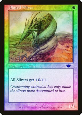MTG MAGIC LEGIONS PLATED SLIVER FRENCH SLIVOIDE A PLAQUES NM FOIL