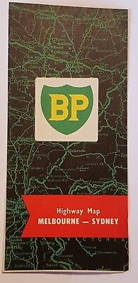 1960's B.P. Highway Map MELBOURNE to SYDNEY never been used  Like NEW