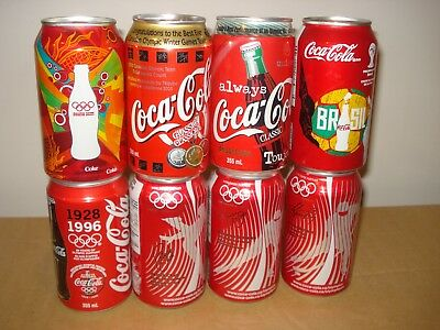 Olympic Coca-Cola cans from Canada