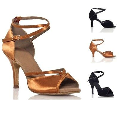 3fbbc4e112a5 Dance Shoes Women Ballroom Latin Quality Wide Width Bonded Leather Dancing  Shoes