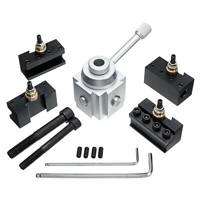 7x Quick Change Tool Post Holder Mount Aluminum Alloy Kit For Table/Hobby Lathe