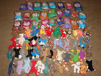 5ca703b723a TY BEANIE BABIES  Lot of 76 McDonalds   Teenie Beanies  Some SEALED ...