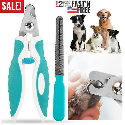 Pet Nail Clippers Stainless Steel Professional Trimmer for Dog Cat Grooming Tool