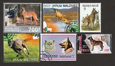 BELGIAN MALINOIS Sheepdog ** Int'l Dog Stamp Collection ** Great Gift Idea*