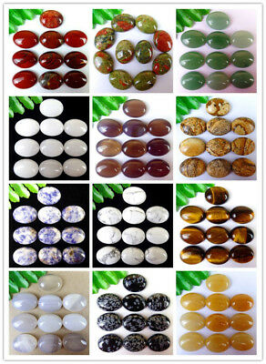 Natural Multicolor Mixed Gemstone Stone Agate Oval Cab Cabochon 20*15*7mm HH6357