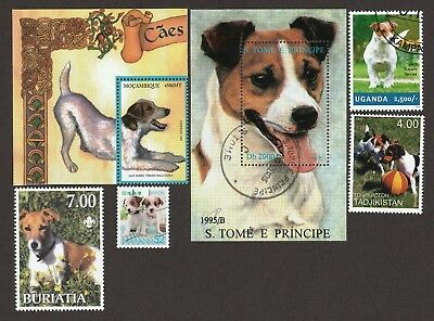 JACK RUSSELL TERRIER ** Int'l Dog Postage Stamp Collection ** Great Gift Idea*