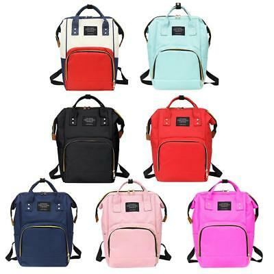 Mummy Maternity Nappy Diaper Bag Baby Backpacks Handbag Large Capacity Soft