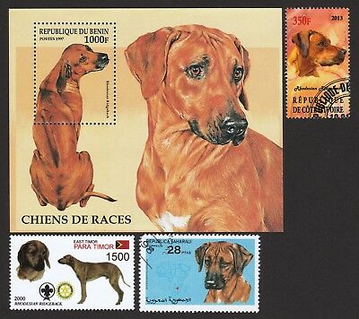 RHODESIAN RIDGEBACK ** Int'l Dog Stamp Collection ** Great Gift Idea*
