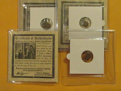 The Widows Mite 2000 year old coin Bible story gift for religion Christian 3 pac