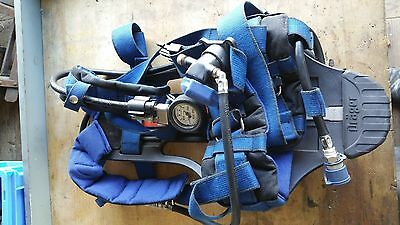 Drager pa 90 series back harness/breathing apparatus, p/n 4054694