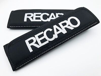 JDM RECARO BLACK RACING DRIFT SEAT BELT SHOULDER PADS COVERS Car & Truck Parts