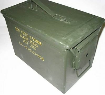 2 Pack - Genuine US Military Fat 50 Ammo Cans (Fireproof & Waterproof storage)