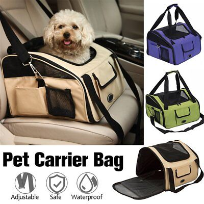 Folding Pet Dog Car Seat Safe Travel Carrier Kennel Puppy Handbag Easy to Carry